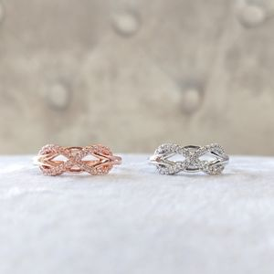 🔥LAST 1🔥NEW 18K ROSE GOLD PLATED INFINITY RING